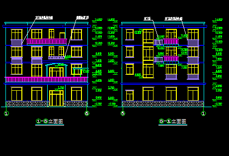 196平方米三层私人别墅建筑设计图纸