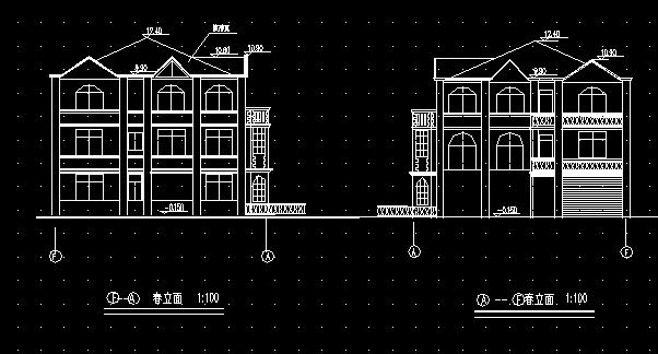 156平方米三层私人别墅建筑设计图纸