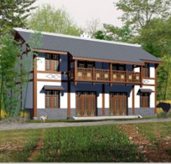 146平方米两层双联别墅建筑设计图纸