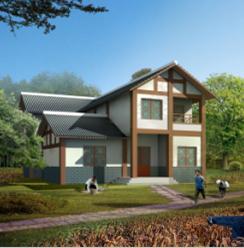 257平方米两层独院式别墅建筑设计图纸