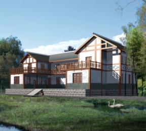 486平方米二层别墅建筑设计图纸