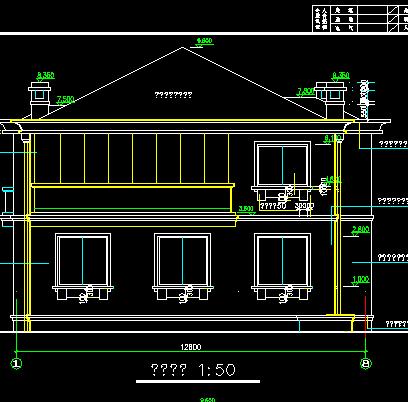 143平米二层别墅建筑设计图纸