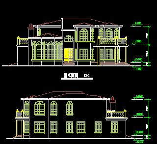144平方米二层别墅建筑设计图纸