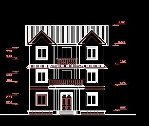 190平方米三层别墅建筑设计图