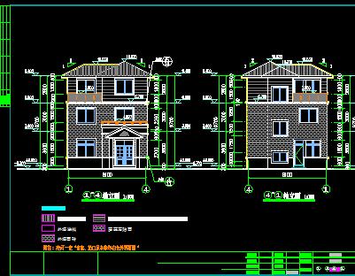 80平方米三层别墅建筑施工图纸图片