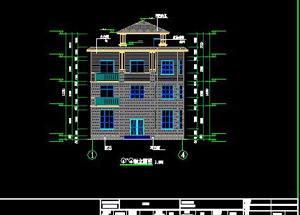 110平方米四层别墅建筑施工图纸(含效果图)