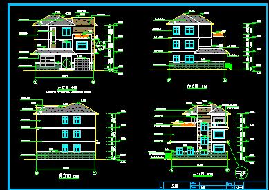 144平方米三层别墅建筑设计图