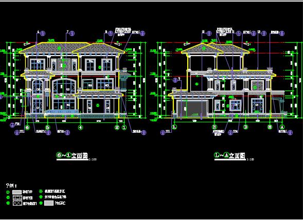 三层别墅建筑结构施工图纸