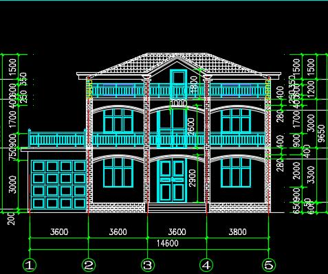 二层别墅施工图纸
