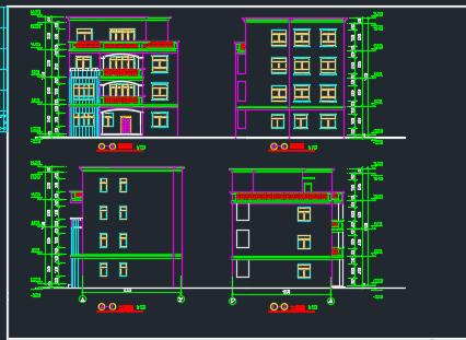 四层私人别墅建筑施工图带效果图