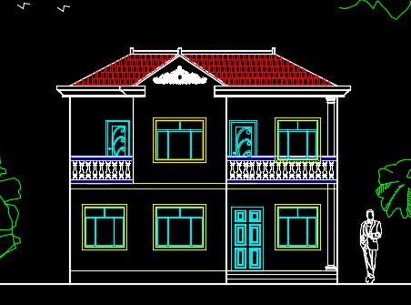 二层农村小别墅建筑设计图纸