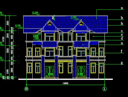 180平米三层别墅施工图纸免费下载 别墅图纸