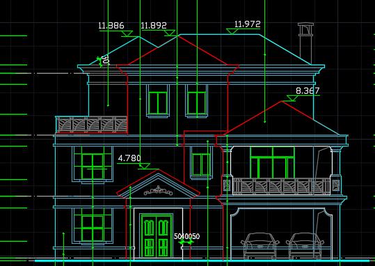 3层独栋别墅建筑施工图纸