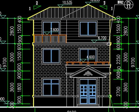 90平方米农村住宅建筑设计图纸免费下载 - 别墅图纸