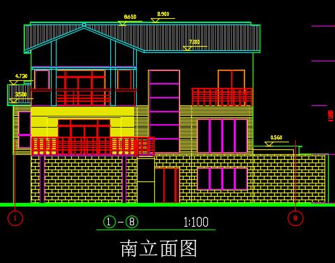 380平米三层别墅建筑施工图纸