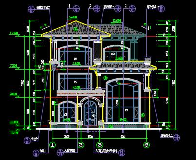 154平米三层单体别墅施工图纸