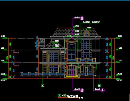 470平方米三层别墅整套施工图纸
