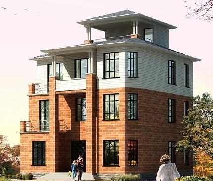 400平米三层砖混结构别墅结构施工图(含建筑图)