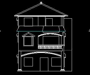 某农村三层独栋别墅建筑设计图纸