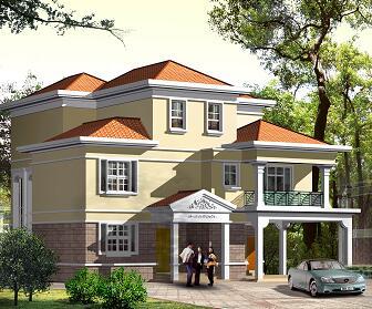 三层框架结构别墅建筑施工图纸