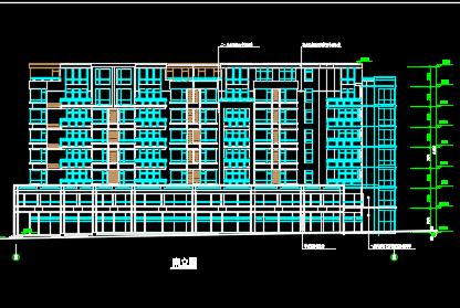 八层住宅楼建筑设计图纸