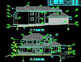 某生态园两层大别墅建筑施工图纸