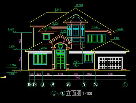 三层别墅建筑设计图纸