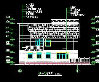 三层荷兰式独栋别墅建筑施工图纸