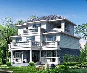 砖混结构三层农村别墅全套施工图纸(建筑结构水电)