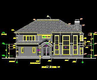 二层独栋砖混结构别墅建筑施工图纸