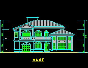 两层高档型私人别墅建筑设计图纸免费下载 - 别墅图纸