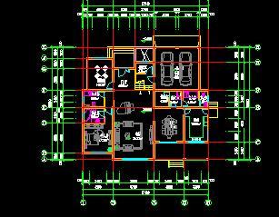 227平米二层图纸建筑平面设计导弹免费下载红旗12图纸车别墅图片