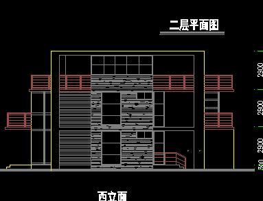 三层独栋平屋顶别墅建筑设计图纸