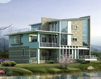 某三层临湖独栋别墅建筑设计图纸