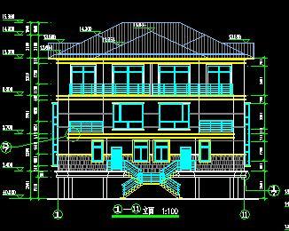 两套三层框架结构中式别墅建筑澳门威尼斯网上娱乐纸