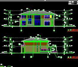 框架结构二层带地下室别墅全套施工图纸(全专业)