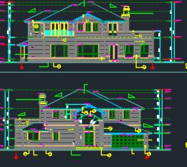 二层别墅建筑施工图纸