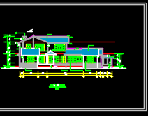 二层仿古别墅建筑施工图(含结构水电图)
