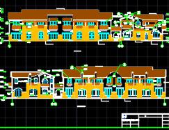 西班牙风格节能型二层别墅建筑施工图纸(含结构水电暖)