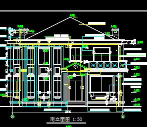 二层带阁楼欧式独栋别墅建筑施工图纸
