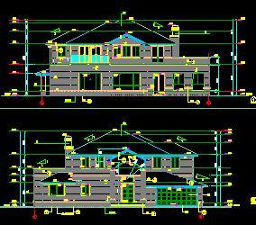 某二层独栋大别墅建筑施工图纸