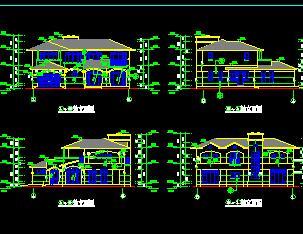 二层独栋豪华别墅建筑施工图纸