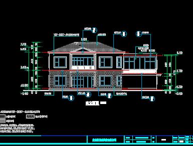 砖混结构二层别墅建筑施工图纸