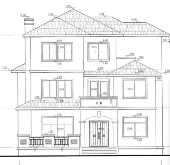 三层农村别墅建筑施工图纸