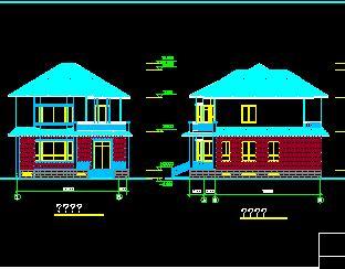 二层砖混结构别墅建筑结构施工图纸(带地下室)