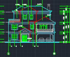 三层欧陆风格别墅建筑施工图纸