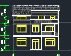 三层独栋别墅建筑施工图纸(含效果图)