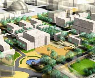 某大学校园规划及城市设计方案图片