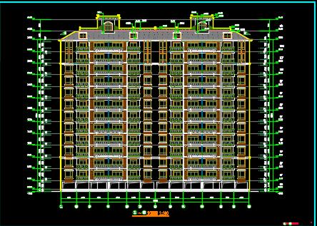 十一层住宅楼建筑设计图纸