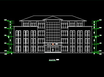 四层办公楼建筑施工图纸